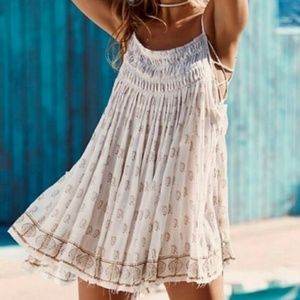 Free People FP One Imperial Palms Pintuck Dress
